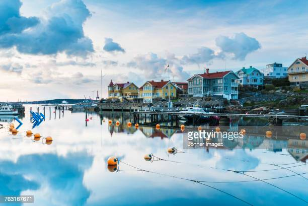 buildings at water - gothenburg stock pictures, royalty-free photos & images