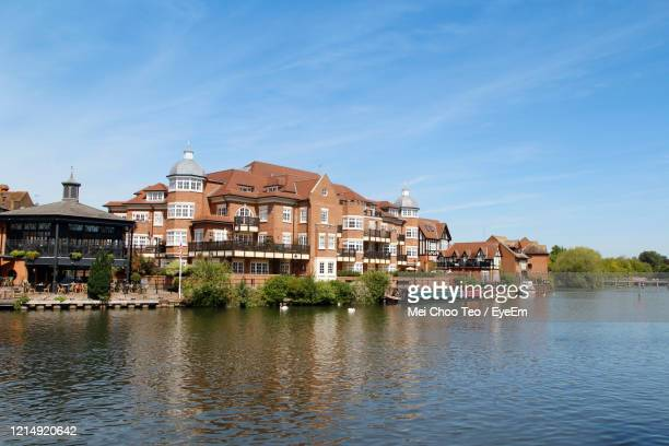 buildings at waterfront - windsor england stock pictures, royalty-free photos & images