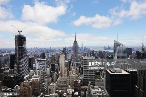 Buildings both residential and commercial give form to the iconic Manhattan skyline on June 13 2019 in New York City In a move that has set many...