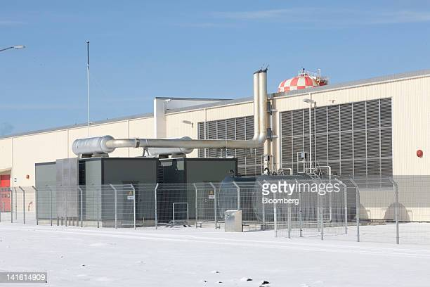 Buildings containing the Verne Global data center stand on a former NATO air command base which uses geothermal energy and the island's cool climate...