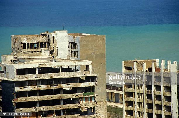 Buildings destroyed by Lebanese civil war, Beirut port district