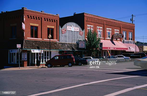 buildings downtown, the ozarks. - branson missouri stock pictures, royalty-free photos & images