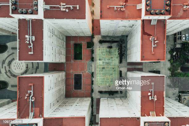 buildings from above - prosperity stock pictures, royalty-free photos & images