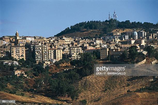 Buildings in a city Caltanisetta Sicily Italy