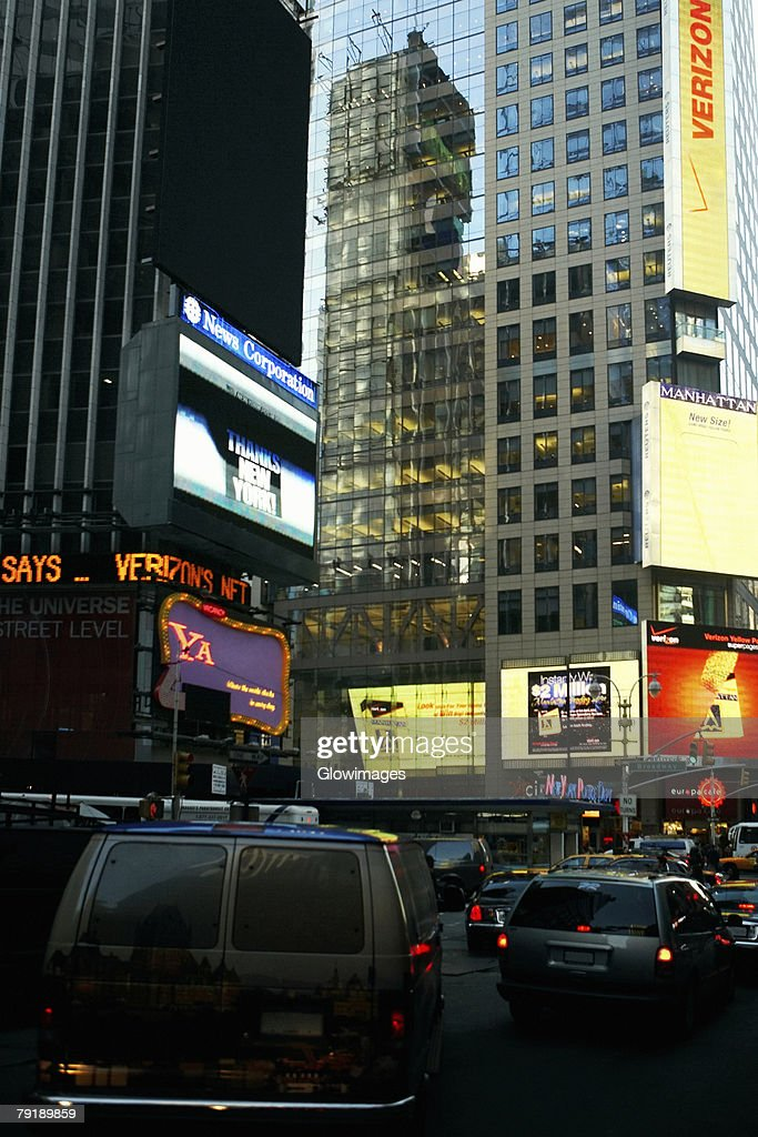 Buildings in a city, Times Square, Manhattan, New York City, New York State, USA : Stock Photo