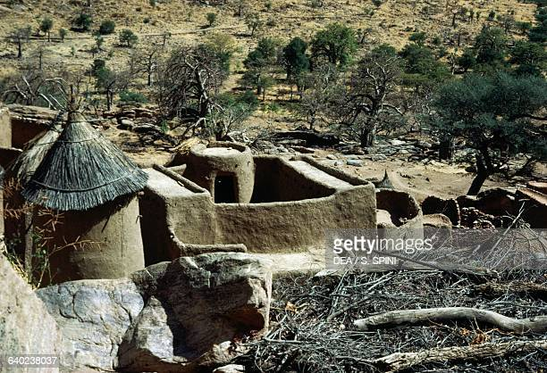 Buildings in a Dogon village, Bandiagara Escarpment , Mali.