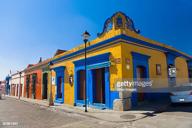 buildings in a street, oaxaca, oaxaca state, mexico - oaxaca stock pictures, royalty-free photos & images