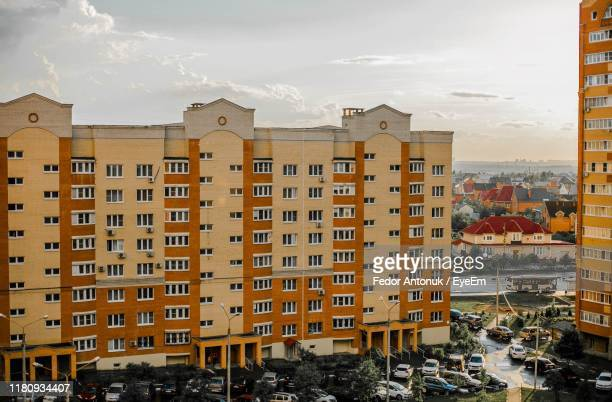 buildings in city against sky - fedor stock pictures, royalty-free photos & images