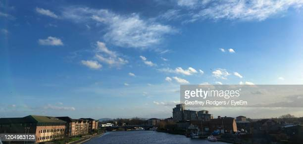 buildings in city against sky - stockton on tees stock pictures, royalty-free photos & images
