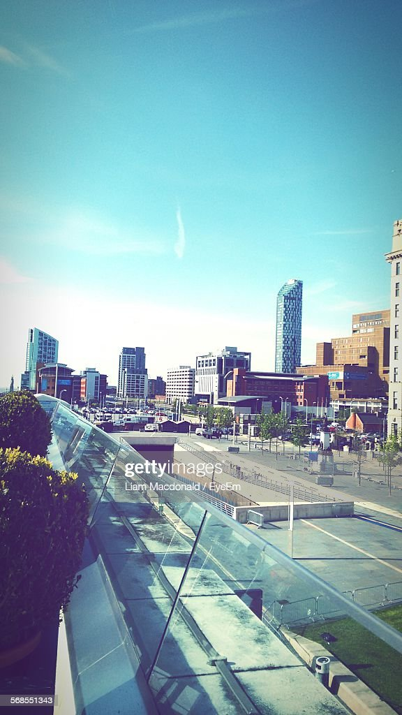 Buildings In City Against Sky : Stock Photo
