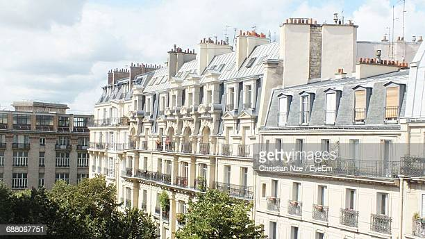 buildings in city against sky - gabon stock pictures, royalty-free photos & images