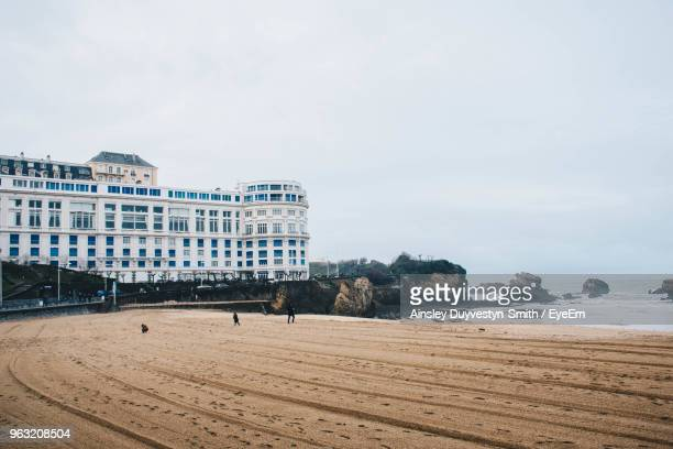 buildings in city against sky - biarritz stock pictures, royalty-free photos & images