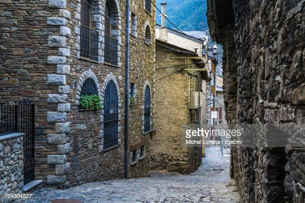buildings in city during winter - andorra la vella stock pictures, royalty-free photos & images