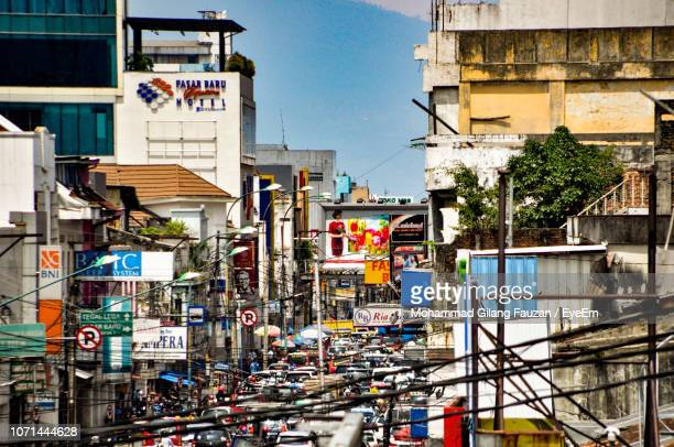 buildings in city - bandung stock pictures, royalty-free photos & images