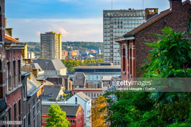 buildings in city - liege stock pictures, royalty-free photos & images