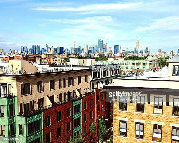 buildings in city - hoboken stock pictures, royalty-free photos & images