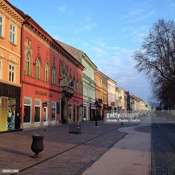 buildings in city - kosice stock photos and pictures