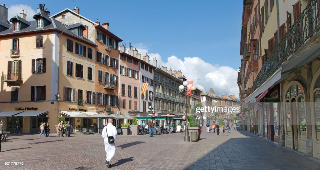 Chambery, 'place Saint-Leger' square. : News Photo