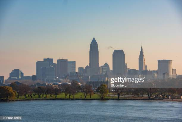 Buildings in downtown Cleveland, Ohio, U.S., on Saturday, Nov. 14, 2020. On Sunday, the Ohio Department of Health reported a total of 298,096 cases...