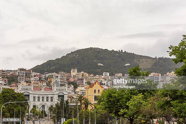 buildings in downtown kavala cityview at greece
