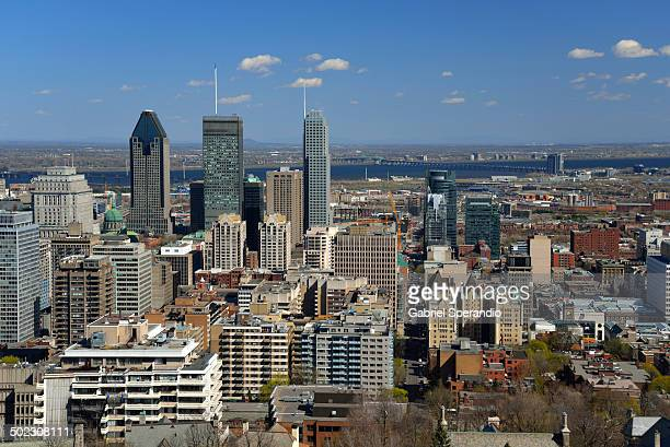 Buildings in Financial Centre of Montreal .