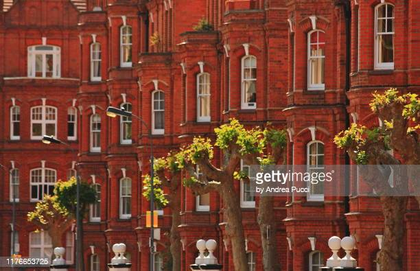 buildings in fulham, london, united kingdom - fulham stock pictures, royalty-free photos & images