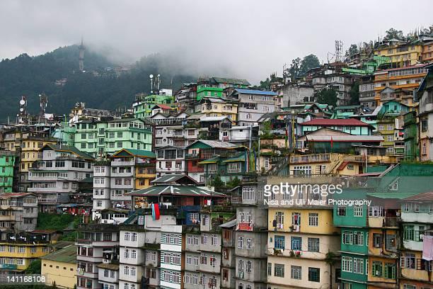 Buildings in Gangtok, Sikkim, India.