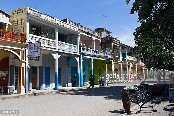 buildings in les cayes - haiti stock pictures, royalty-free photos & images