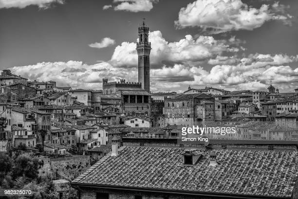 buildings in sienna, tuscany, italy - siena italy stock pictures, royalty-free photos & images