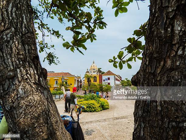 buildings in small town - barranquilla stock photos and pictures