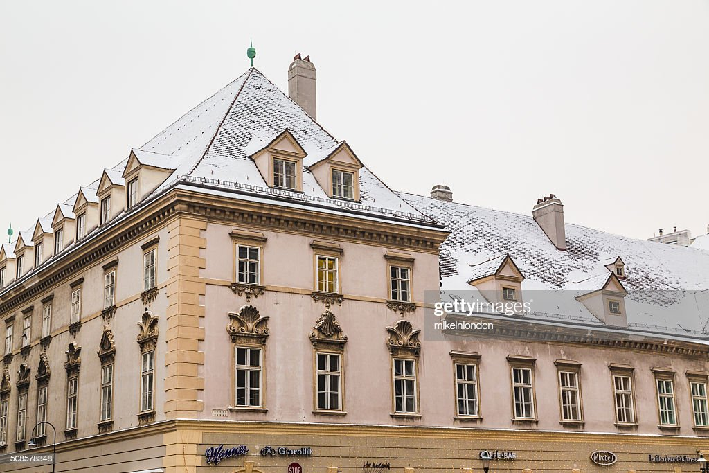 Buildings in Stephansplatz in the Winter : Stock Photo