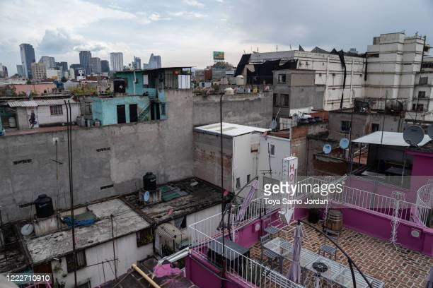 Buildings in the Buenavista neighborhood are seen on June 23 2020 in Mexico City Mexico Nicky Castelan a HIV positive trans sex worker and her...