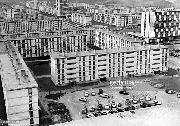 Buildings In The Housing Estate Of Sarcelles In The Val D'Oise Department In March 1963