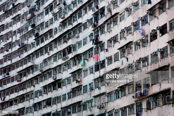 Buildings in the Quarry Bay area of Hong Kong on February 28 2018 in Hong Kong China The independent territory the world's tenth largest trading...
