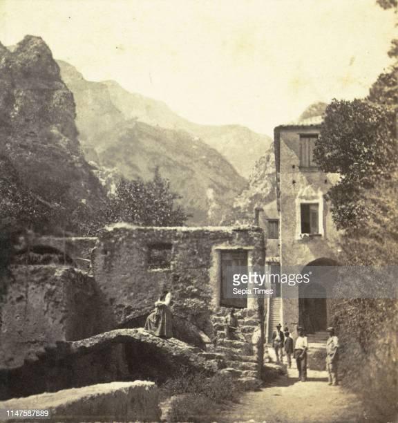 Buildings in the Valle dei Molini Amalfi Roberto Rive c 1864 Italy