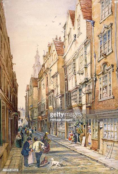 Buildings in Wych Street including the Rising Sun Tavern Westminster London c1860