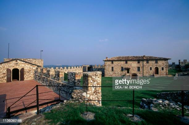 Buildings inside the Fortress of Lonato, Lonato del Garda, Lombardy, Italy, 10th-15th century.