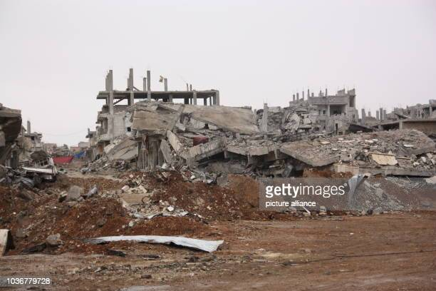 Buildings lie in rubble in Kobane Syria 30 January 2015 The Kurds have recaptured the city though the price is very high The extremists' heavy...