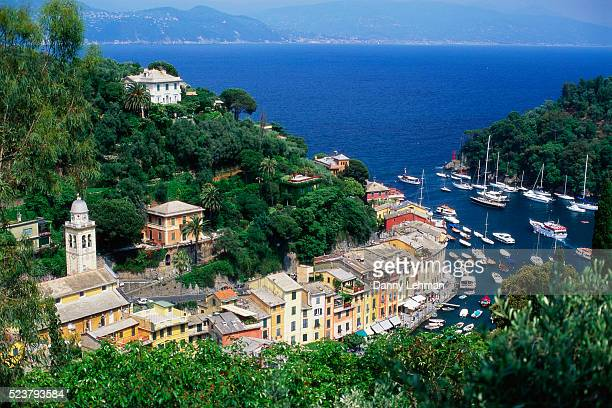 Buildings Lining Waterfront in Portofino