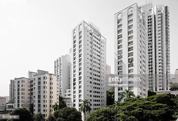 buildings near avenida (street) paulista - exterior de prédio - fotografias e filmes do acervo