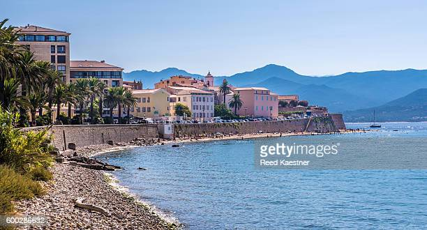 Buildings next to the shore of Ajaccio, Corsica