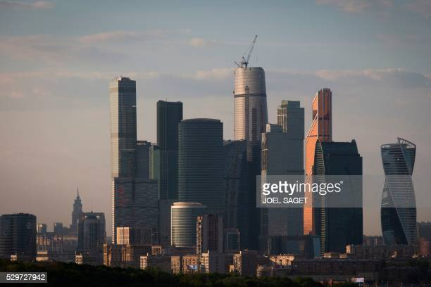 Buildings of the commercial district Moscow International Business Center are pictured in central Moscow on May 7 2016