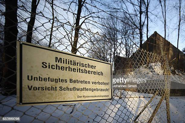 Buildings of the Staufer barracks of the Bundeswehr the German armed forces stand in the morning on January 28 2017 in Pfullendorf Germany According...