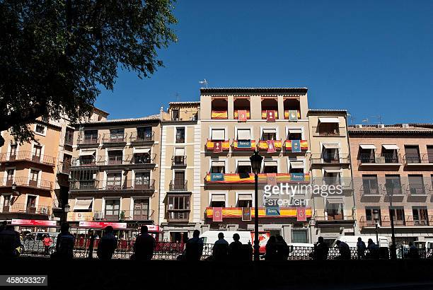 buildings of toledo city - fstoplight stock photos and pictures