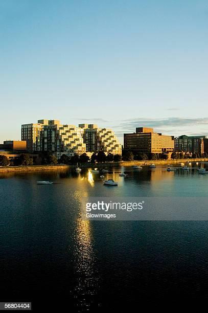 buildings on a waterfront, charles river, cambridge - 米マサチューセッツ州 ケンブリッジ ストックフォトと画像