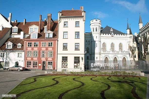 Buildings On Livu Square Riga Latvia
