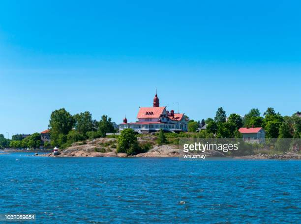 Buildings on Luoto island off Helsinki