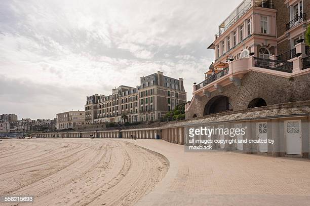 buildings on the coast-dinard - dinard stock pictures, royalty-free photos & images