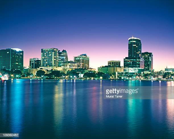buildings on the waterfront - orlando florida stock pictures, royalty-free photos & images