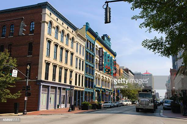 buildings restored in downtown revitalization, louisville, ky, usa - louisville kentucky stock pictures, royalty-free photos & images